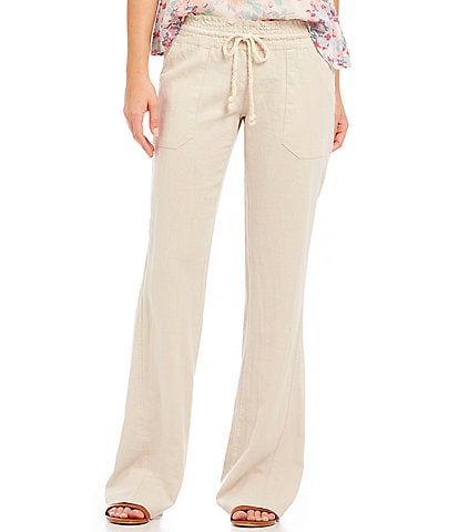 Roxy Oceanside Linen-Blend Wide Leg Pants