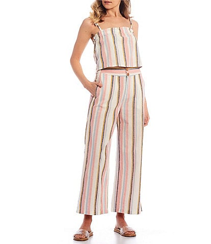 Roxy Coordinating Palm Life Striped Top