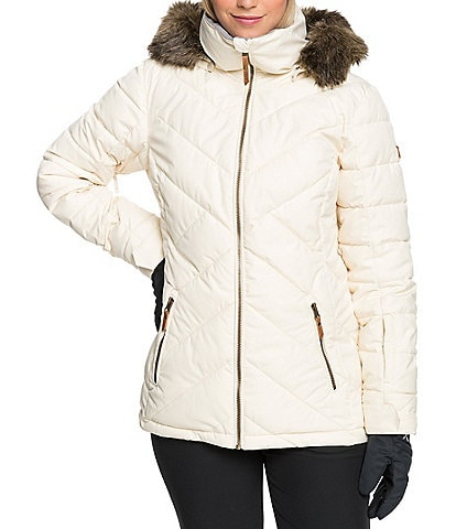 Roxy Quinn Faux-Fur Snow Ski Jacket