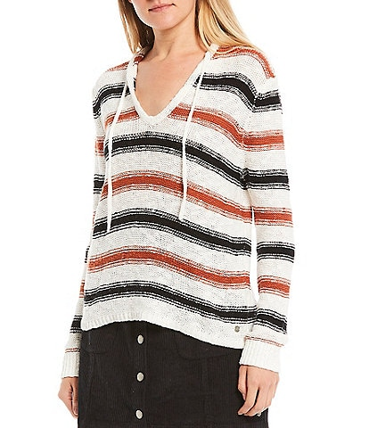 Roxy Shades Of Cool Stripe Pullover Hoodie