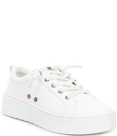 Roxy Sheilahh Pebbled Faux Leather Platform Sneakers