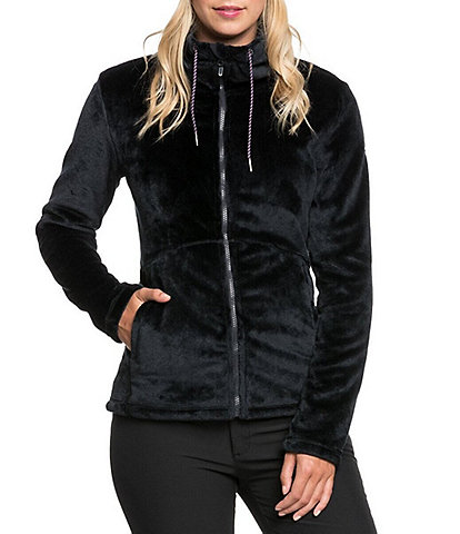 Roxy Tundra Fleece Long-Sleeve Faux-Fur Fleece Snow Ski Jacket