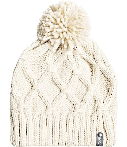 Roxy Winter Cable-Knit Snow Beanie