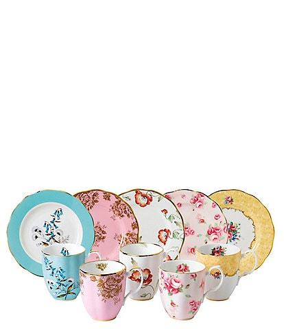 Royal Albert 100 Years 1950-1990 10-Piece Mug and Plate Set