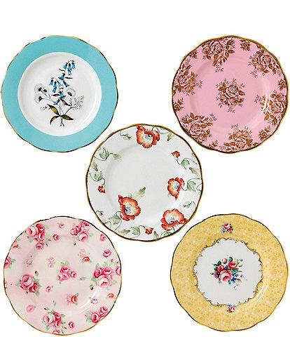 Royal Albert 100 Years 1950-1990 5-Piece Plate Set
