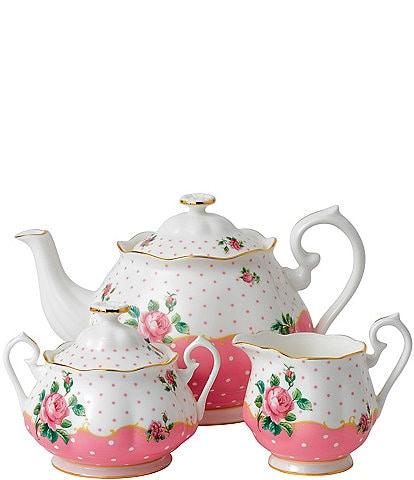 Royal Albert Cheeky Pink 3-Piece Tea Set