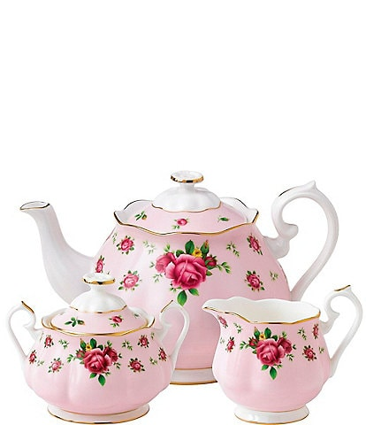 Royal Albert New Country Roses Pink Vintage 3-Piece Tea Set