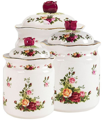 Royal Albert Old Country Roses Canister, Set of 3