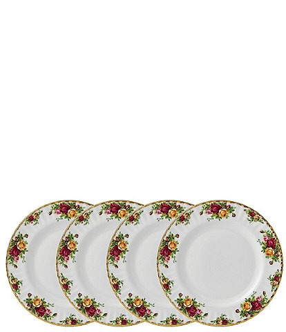 Royal Albert Old Country Roses Dinner Plates, Set of 4