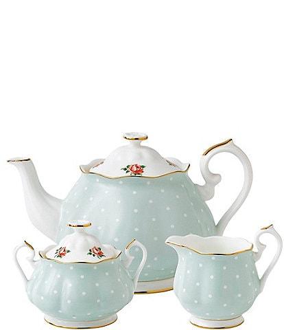 Royal Albert Polka Rose 3-Piece Tea Set
