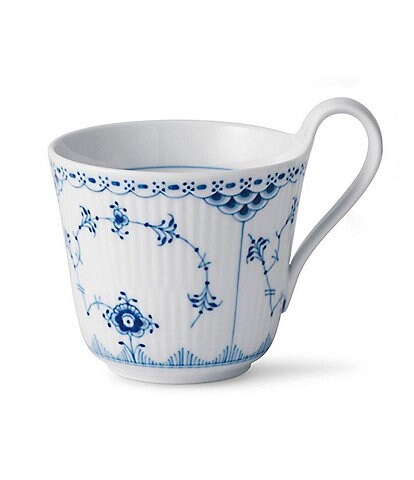 Royal Copenhagen Blue Fluted Half Lace High Handle Mug
