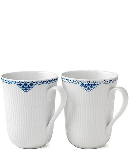 Royal Copenhagen Princess Mugs, Set of 2