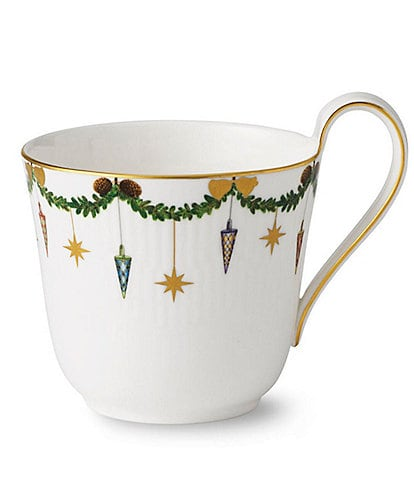 Royal Copenhagen Star Fluted Christmas High Handle Mug