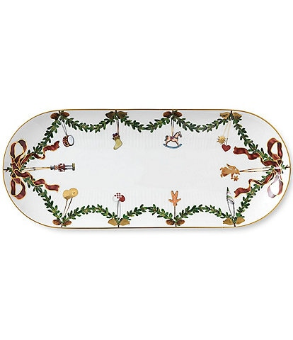 Royal Copenhagen Star Fluted Christmas Oblong Dish