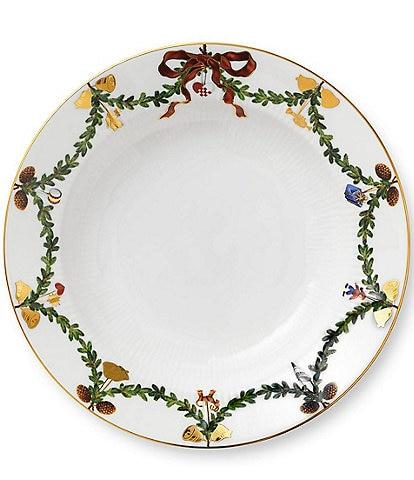 Royal Copenhagen Star Fluted Christmas Rim Soup Bowl