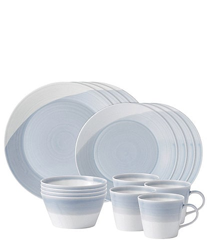 Royal Doulton 1815 Blue 16-Piece Dinnerware Set