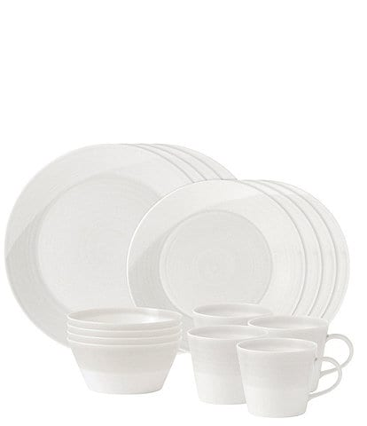 Royal Doulton 1815 White 16-Piece Dinnerware Set