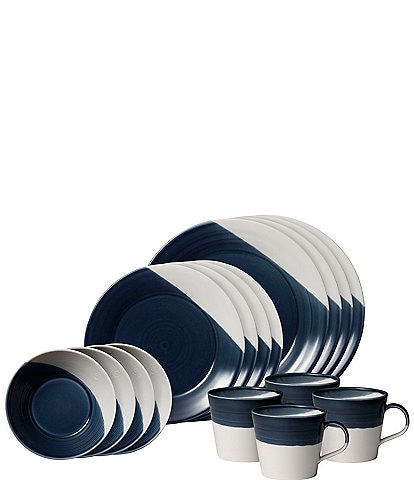 Royal Doulton Bowls of Plenty Dark Blue 16-Piece Dinnerware Set