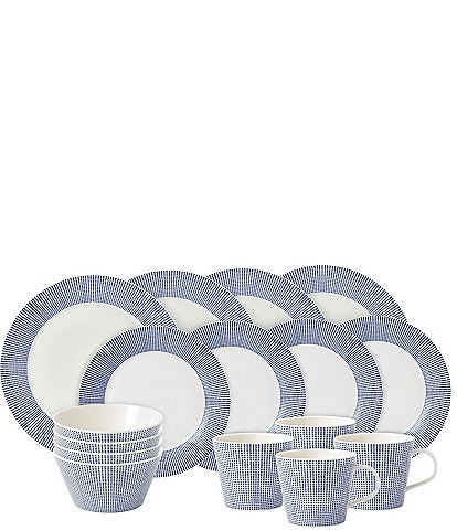Royal Doulton Pacific Blue Dots 16-Piece Dinnerware Set