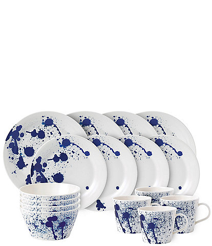 Royal Doulton Pacific Blue Splash 16-Piece Dinnerware Set