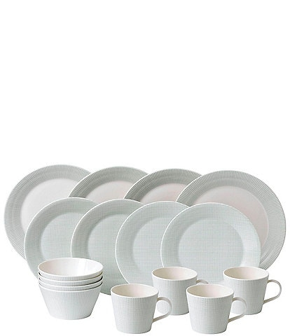 Royal Doulton Pacific Mint Dots 16-Piece Dinnerware Set