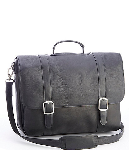 ROYCE New York Colombian Leather 15#double; Laptop Satchel Brief