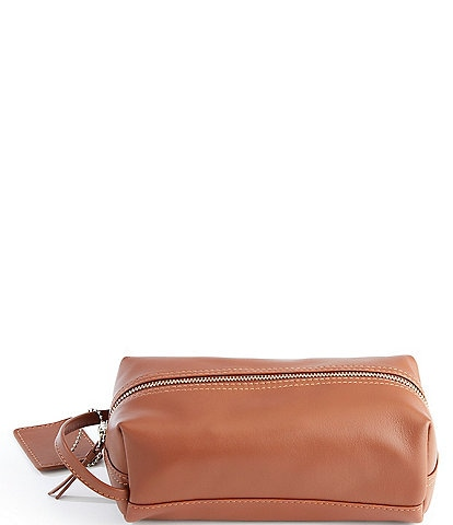 ROYCE New York Genuine Leather Compact Toiletry Bag