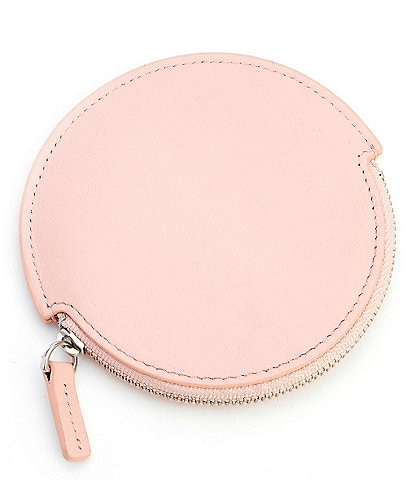 ROYCE New York Leather Circular Earbud Travel Case