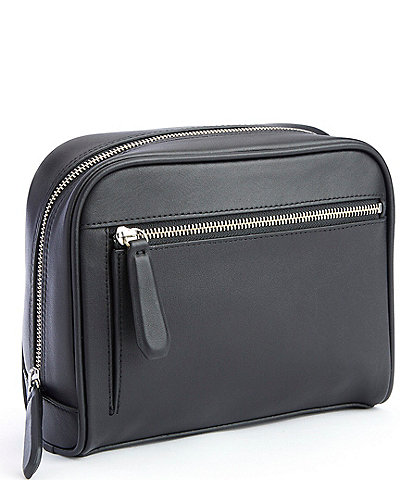 ROYCE New York Leather Contemporary Toiletry Bag