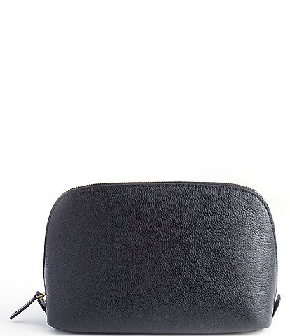 ROYCE New York Leather Large Cosmetic Bag
