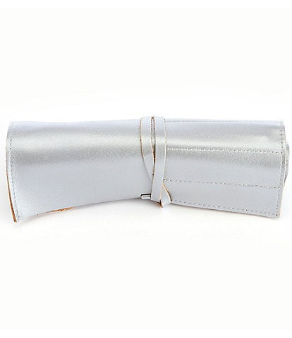 ROYCE New York Leather Cosmetic Makeup Brush Roll