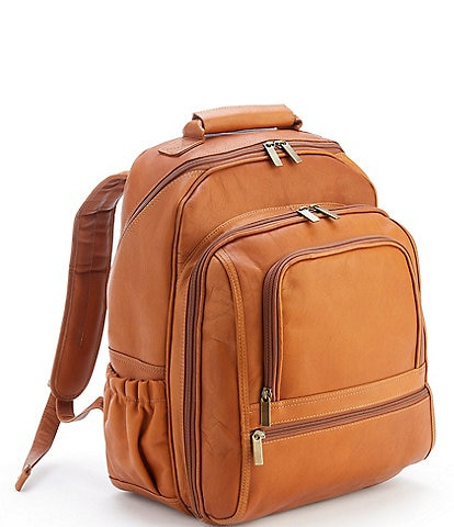 ROYCE New York Leather Deluxe Laptop Backpack