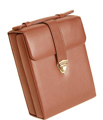 ROYCE New York Leather Ladies' Pocketbook Jewelry Case