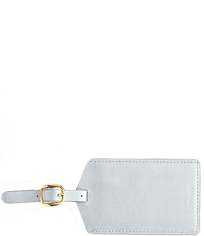 ROYCE New York Leather Luggage Tag With Privacy Flap