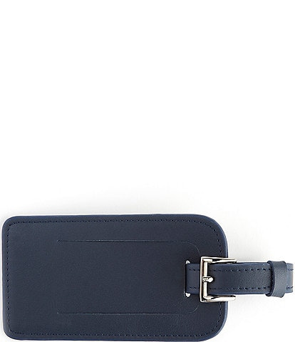ROYCE New York Leather Luggage Tag with Silver Hardware