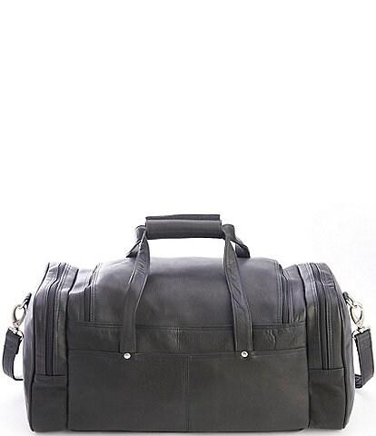 ROYCE New York Leather Luxury Overnight Duffel Bag