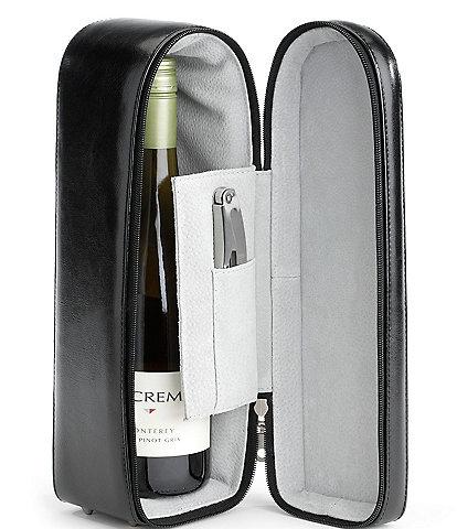 ROYCE New York Leather Single Wine Presentation Case