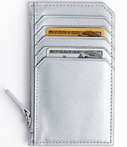 ROYCE New York Leather Slim Zippered Wallet