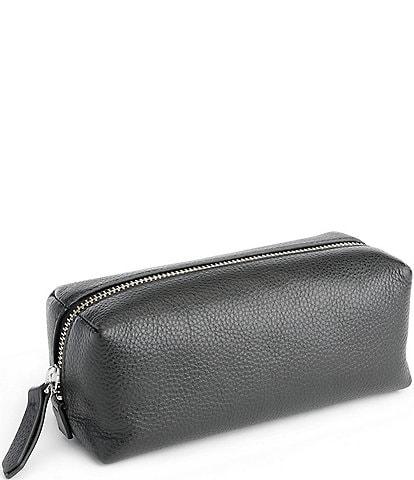 ROYCE New York Leather Zippered Travel Utility Bag