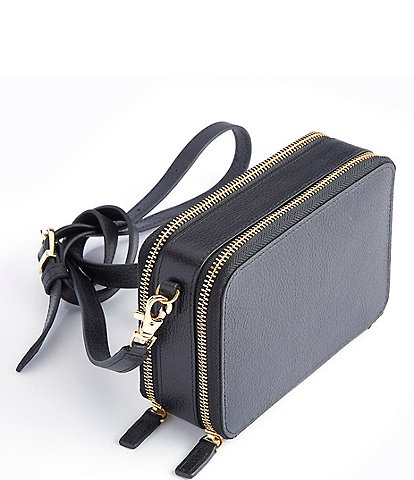 ROYCE New York Mini Leather Crossbody Bag