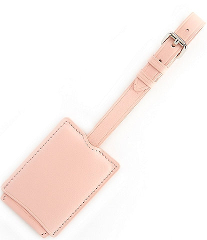 ROYCE New York Retractable Leather Luggage Tag