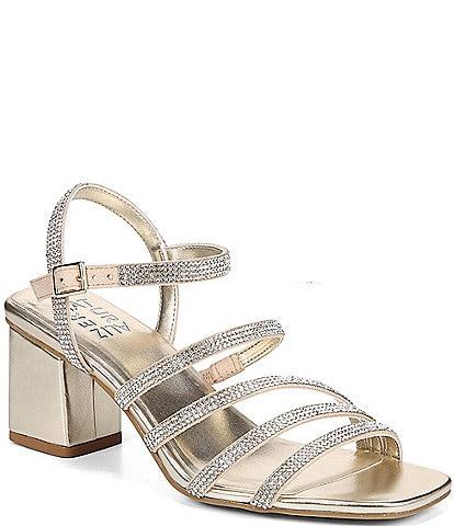 RSVP Collection Naturalizer Niko2 Crystal Detail Block Heel Evening Dress Sandals