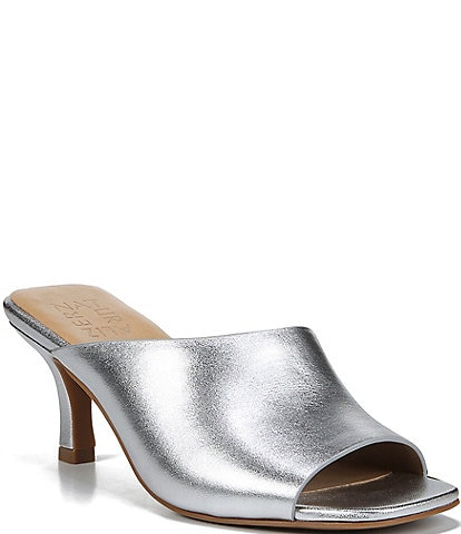 RSVP Collection Naturalizer Stacy Metallic Leather Slides