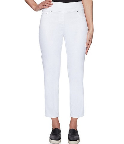 Ruby Rd. Extra Stretch Denim Straight Leg Ankle Pull-On Pants