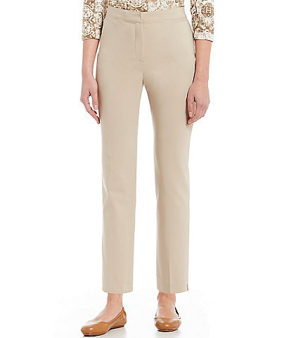 Ruby Rd. Flat Front Double Face Stretch Ankle Pants