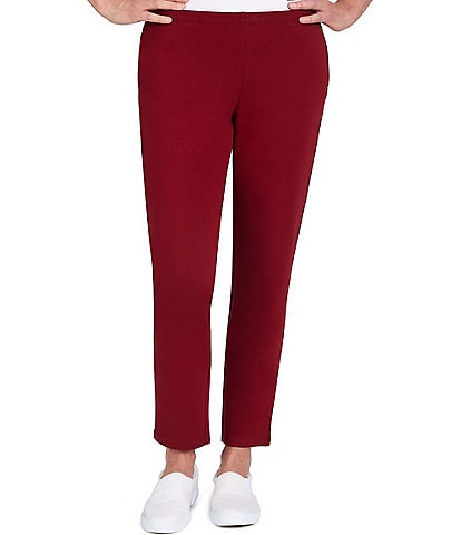 Ruby Rd. French Terry Straight Leg Coordinating Pull-On Mid Rise Pants