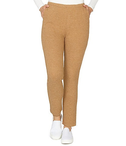 Ruby Rd. Heather Cozy Knit Mid Rise Straight Leg Pull-On Pants