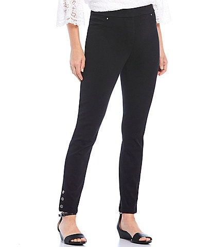 Ruby Rd. Knitted Twill Pull-On Snap Hem Detail Pants