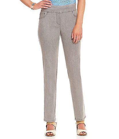 Ruby Rd. Petite Size Pull-On Denim Jeans