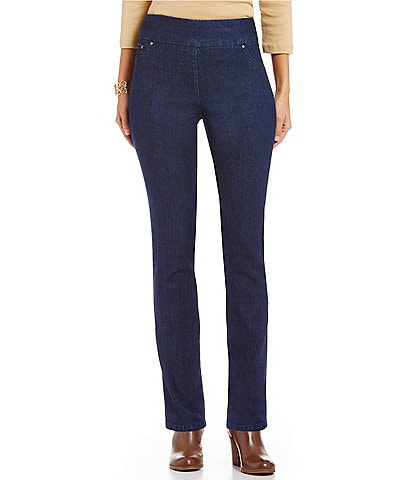 Ruby Rd. Petite Pull-On Denim Jeans